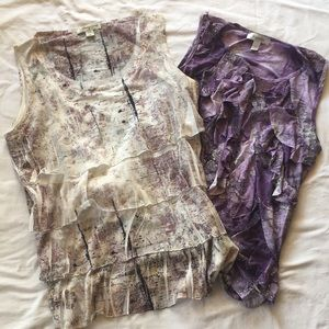 Tops - Lot of two Sleeveless Blouses Size Large
